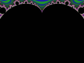 The Mandelbrot Set centered at (0, 0i) - click for larger version